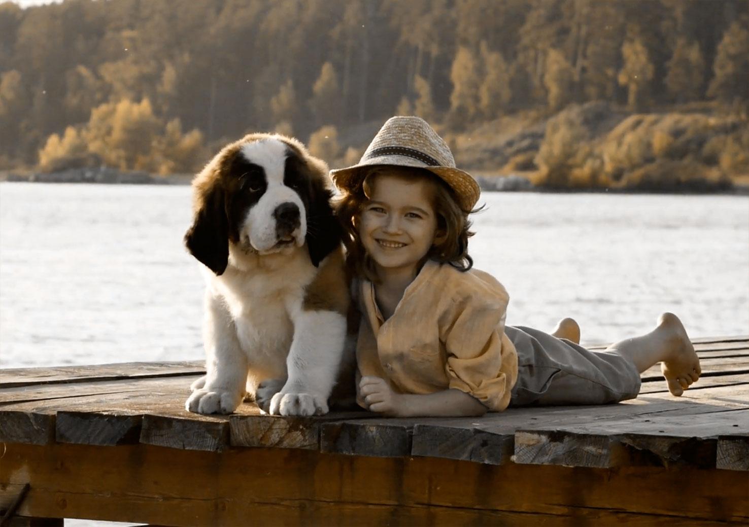 portada1 - niña con cachorro